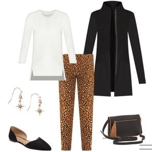 Old Navy Pants - ✨Old Navy NWT✨ Full Length Pixie Pants in Leopard